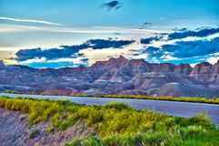 Badlands HDR Photo Royalty Free Stock Photos