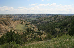 Badlands, het Nationale Park van Theodore Roosevelt Stock Foto's