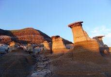 Badlands and hoodoos Stock Image