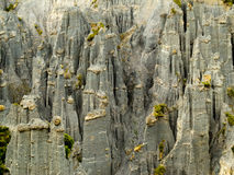 Badlands hoodoos of Putangirua Pinnacles, NZ Stock Photography