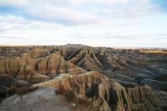 badlands horyzontu moutain Zdjęcia Stock