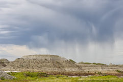 Badlands i den provinsiella dinosaurien parkerar Royaltyfri Fotografi