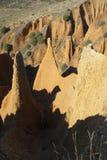 Badlands i la Oliva, Spanien för Pontà ³ n de Arkivbild