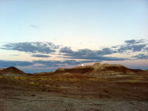 Badlands i Winslow, Arizona Royaltyfri Bild