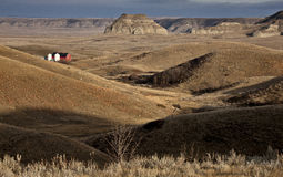 Badlands Kanada Saskatchewan Obraz Royalty Free