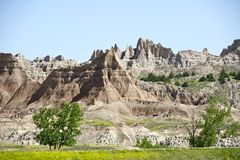 Badlands Landscape Stock Photos