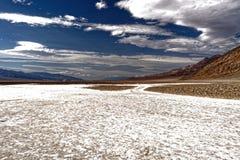 Badlands landskap, Death Valley, Kalifornien Royaltyfria Foton