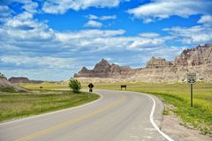 Badlands Loop Road Royalty Free Stock Image