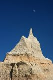 Badlands and moon Royalty Free Stock Image
