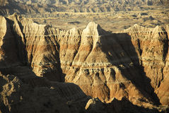Badlands National Park. Scenic view of rock formations in Badlands National Park, South Dakota, U.S.A Stock Images
