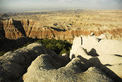 Badlands National Park. Scenic view of rock formations in Badlands National Park, South, Dakota, U.S.A Royalty Free Stock Photography