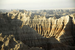 Badlands National Park. Scenic view of mountain range in Badlands National Park, South Dakota, U.S.A Royalty Free Stock Photos