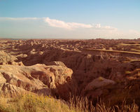 Badlands National Park. This is a digital photograph of beautiful Badlands National Park in the Black Hills of South Dakota, United States during the month of Stock Image
