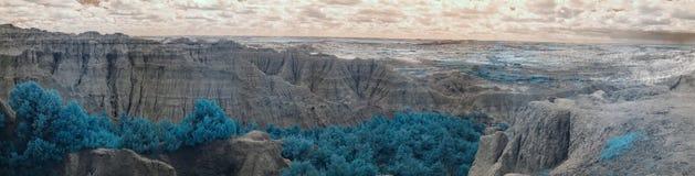 Badlands National Park, Infrared. South Dakota. royalty free stock photography