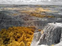 Badlands National Park, Infrared. South Dakota. stock images