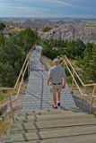 Badlands National Park long stairway Stock Photography