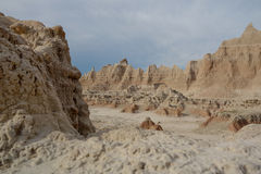 Badlands National Park moonscape, South Dakota. Stock Photo