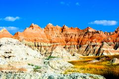 Badlands National Park rugged landscape. Beauty in rugged form only found in the badlands national park stock photos