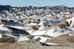 Badlands National Park in South Dakota, USA. Royalty Free Stock Photography