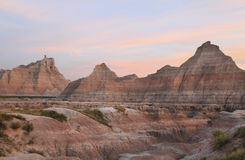 Badlands National Park at Sunset Royalty Free Stock Photos