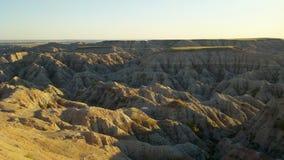 Badlands National Park. Sunset at the Badlands National Park in South Dakota royalty free stock images