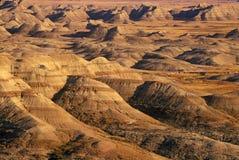 Badlands National Park at sunset, South Dakota Royalty Free Stock Images