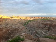 Badlands National Park at Sunset Stock Image