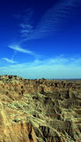 Badlands National Park under cirrus cloudscape in South Dakota USA Royalty Free Stock Photos