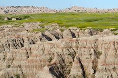 Badlands nationalpark, South Dakota, USA fotografering för bildbyråer