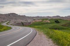 Badlands nationalpark, South Dakota, USA Royaltyfri Foto