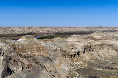 Badlands near Drumheller in Alberta, Canada Royalty Free Stock Images