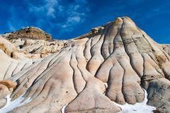 The badlands near Drumheller, Alberta are famous for rich deposi. Ts of dinosaur fossils, Alberta, Canada Royalty Free Stock Photos