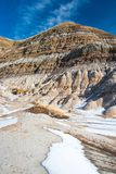 The badlands near Drumheller, Alberta are famous for rich deposi. Ts of dinosaur fossils, Alberta, Canada Stock Image