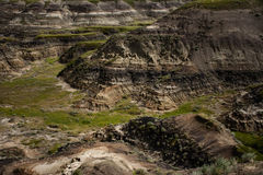 Badlands near Drumheller. A shot overlooking part of the badlands near Drumheller, Alberta, Canada Stock Photos