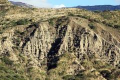 Badlands och geologiska bildande, Sicilien Royaltyfri Bild