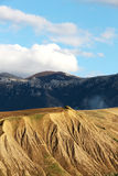 Badlands och geologiska bildande, Sicilien Fotografering för Bildbyråer