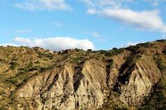 Badlands och geologiska bildande, Sicilien Royaltyfri Foto