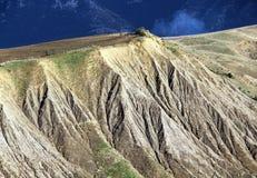 Badlands och geologiska bildande, Sicilien Arkivfoto