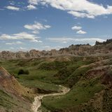 Badlands Of South Dakota, USA Stock Photo