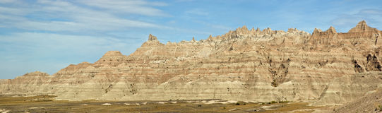 Badlands Panorama Stock Image
