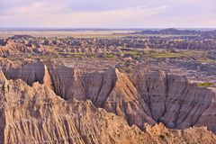 Badlands Panorama Stock Images