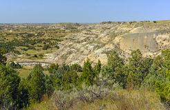 Badlands Panorama on a Summer Day Stock Photography