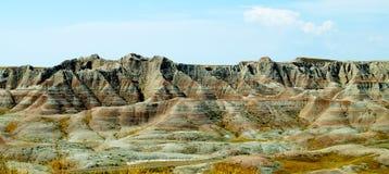 Badlands panoramic landscape Royalty Free Stock Photography
