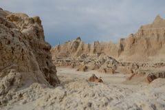 Badlands parka narodowego moonscape, Południowy Dakota. Zdjęcie Stock