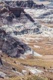 Badlands pintados del desierto Imágenes de archivo libres de regalías