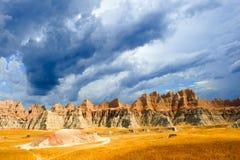 Badlands Południe Dakota fotografia stock