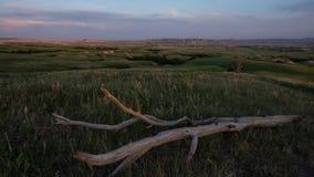 Badlands - puesta del sol y registro metrajes