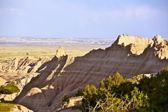 Badlands Raw Landscape Stock Images