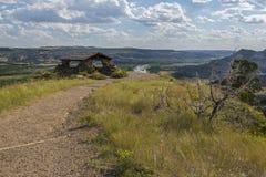 Badlands River Valley Observation Shelter Royalty Free Stock Images