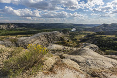 Badlands River Valley Royalty Free Stock Photo